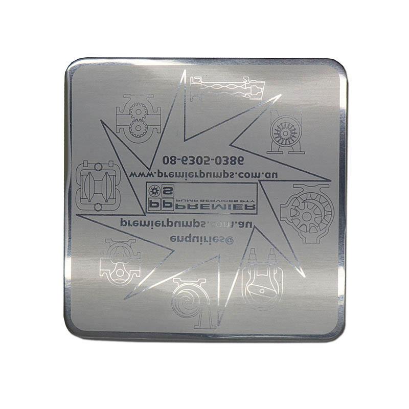 Custom Metal Plate Glossy Aluminum Matte Etching Sticker SD-S00001