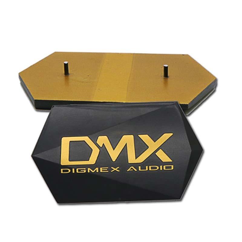 Custom exquisite diamond-cutting gold Aluminum Nameplate SD-N00001