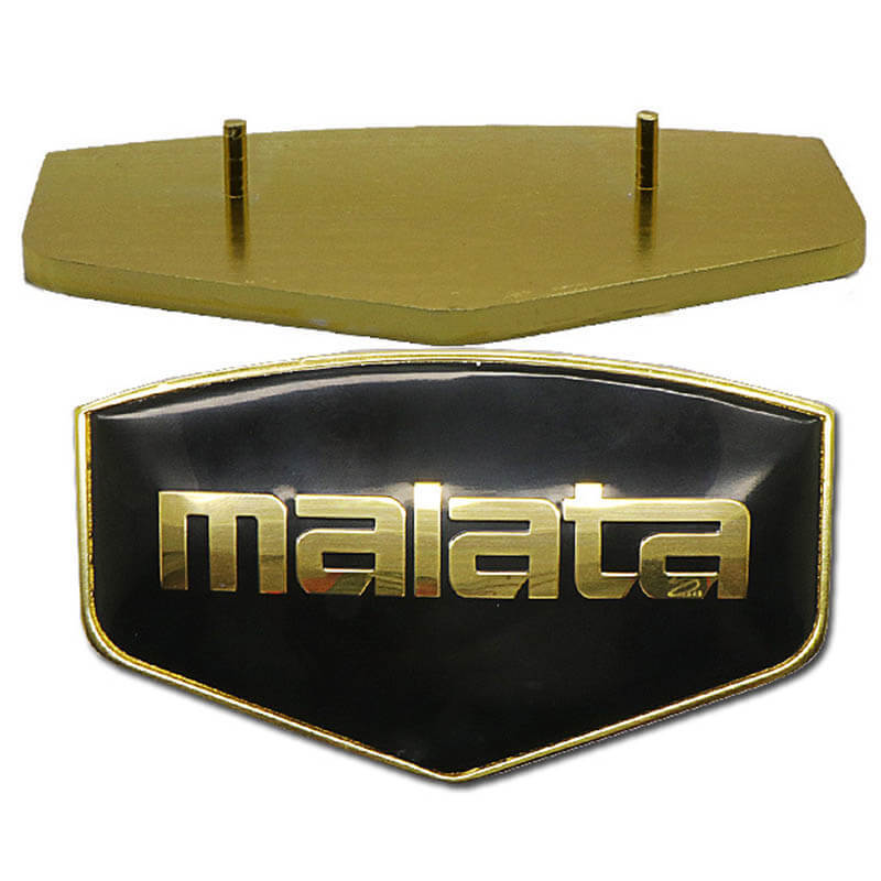Luxury domed epoxy Metal Nameplate SD-N00006