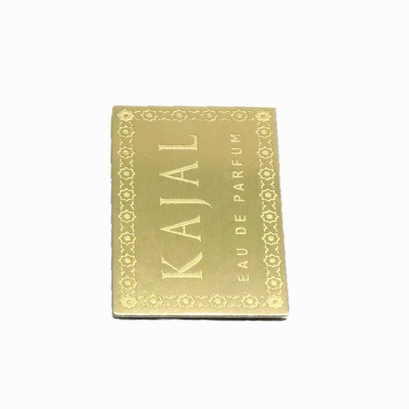 Golden Etched Aluminum Perfume Bottle Label SD-L00004