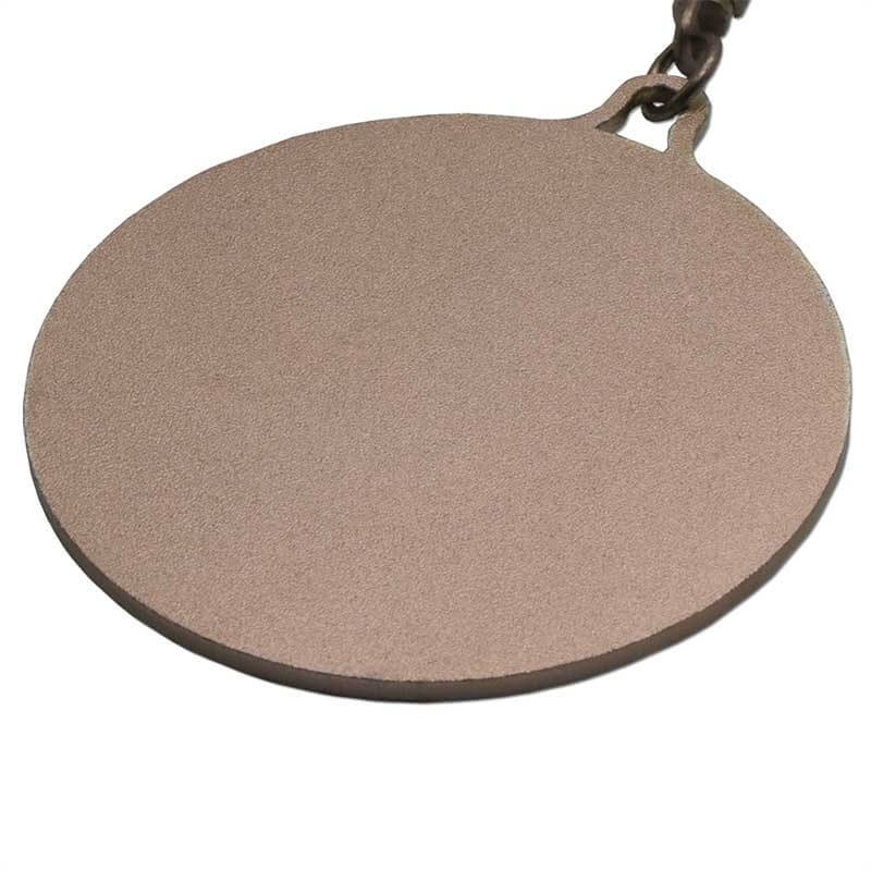 Custom Aluminum Metal Dog Tag Embossed 3D Pattern Open Chain SD-T00002