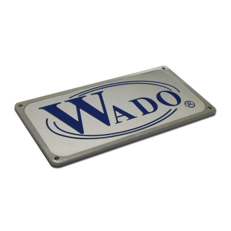 Anti-UV anodized metal name plates SD-N00017